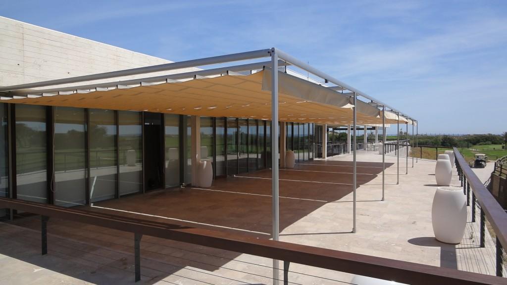 Toldos para terrazas precios trabajos realizados with for Toldos triangulares para terrazas