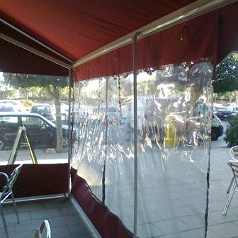 toldos verticales cafeteria